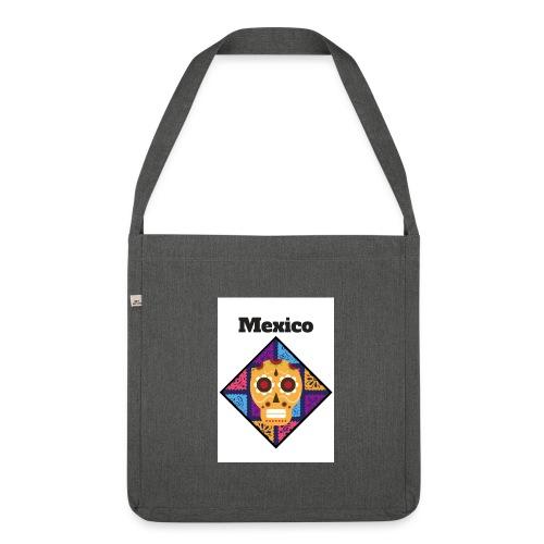 Mexico Calavera - Bandolera de material reciclado