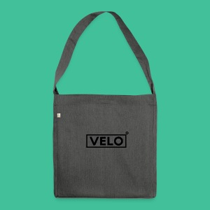 Velo Icon Blk - Long Sleeve Baseball Shirt W/N Clr - Shoulder Bag made from recycled material