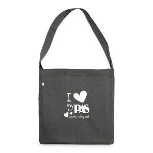 i love my pas weiss - Schultertasche aus Recycling-Material