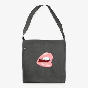 With Pleasure Mouth Logo - Shoulder Bag made from recycled material
