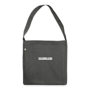 Festering Films Logo (White) - Shoulder Bag made from recycled material