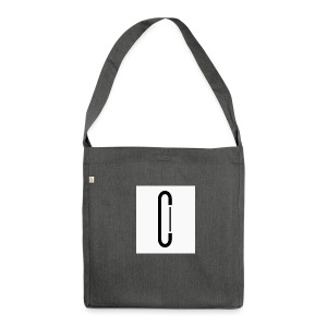 Cw0 Official Logo Slipper Black White - Shoulder Bag made from recycled material