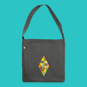 Rhombus - Schultertasche aus Recycling-Material