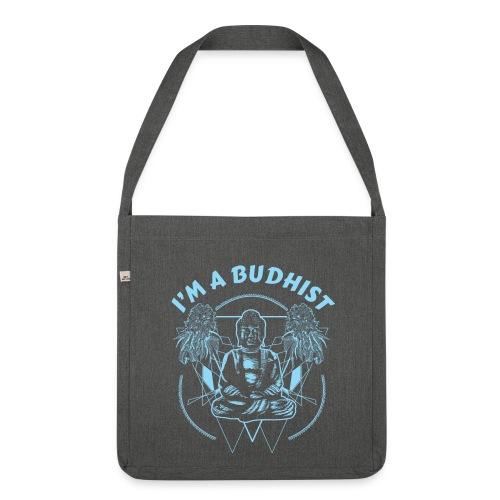 Im a budhist - Skulderveske av resirkulert materiale