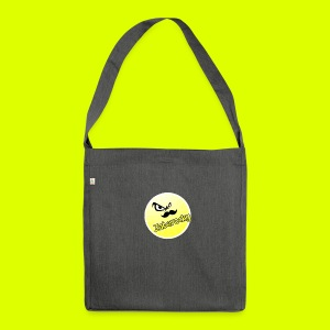 Shirt with nice logo with text - Shoulder Bag made from recycled material