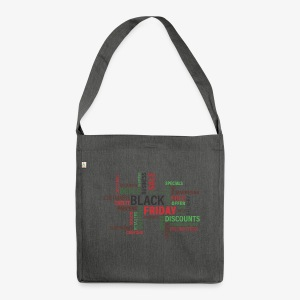 Black Friday! - Schultertasche aus Recycling-Material