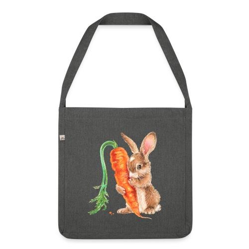 konijntje met wortel - Shoulder Bag made from recycled material
