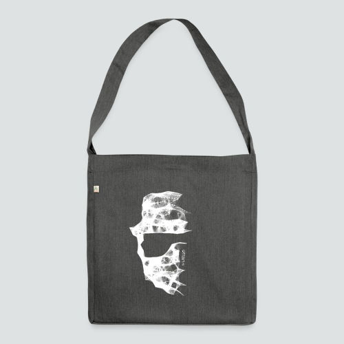 Totenkopf2 png - Schultertasche aus Recycling-Material