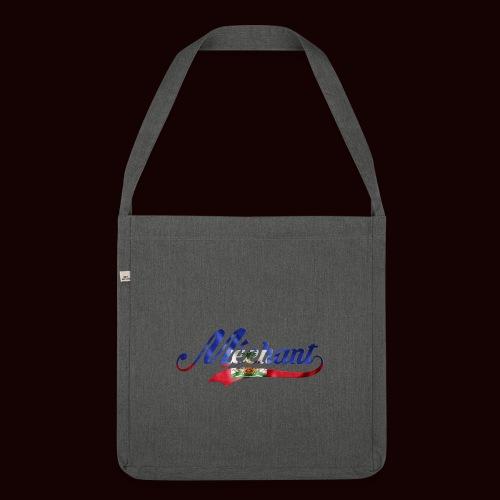méchant drapeau haïtien - Sac bandoulière 100 % recyclé
