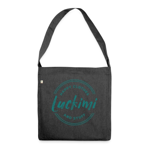 Luckimi logo circle - Shoulder Bag made from recycled material