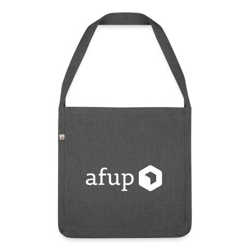Le logo AFUP en blanc - Sac bandoulière 100 % recyclé