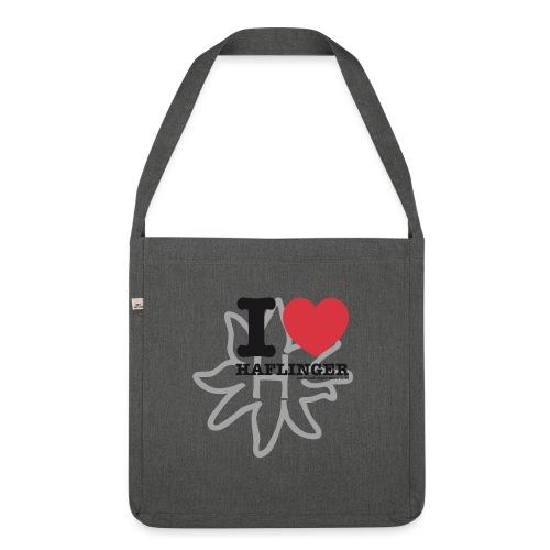 I love Haflinger - Schultertasche aus Recycling-Material