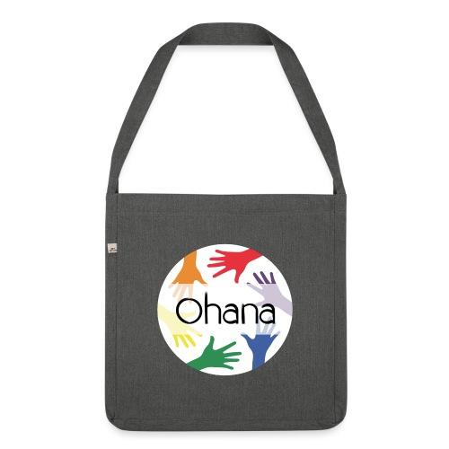 Ohana heißt Familie - Schultertasche aus Recycling-Material