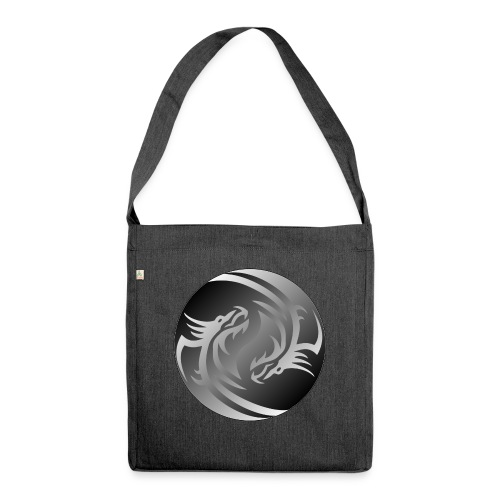 Yin Yang Dragon - Shoulder Bag made from recycled material