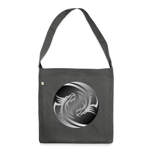 Yin Yang Dragon - Shoulder Bag made from recycled material