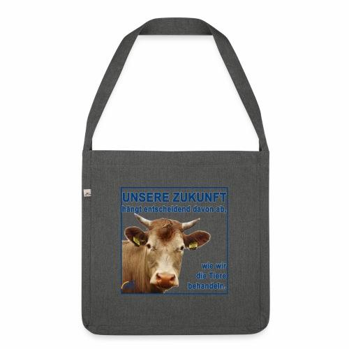 Parteishirt Zukunft - Schultertasche aus Recycling-Material