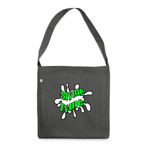 Slyme Tyme Logo / Green To White - Shoulder Bag made from recycled material