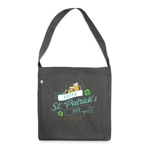 Happy St. Patrick`s Day - Schultertasche aus Recycling-Material