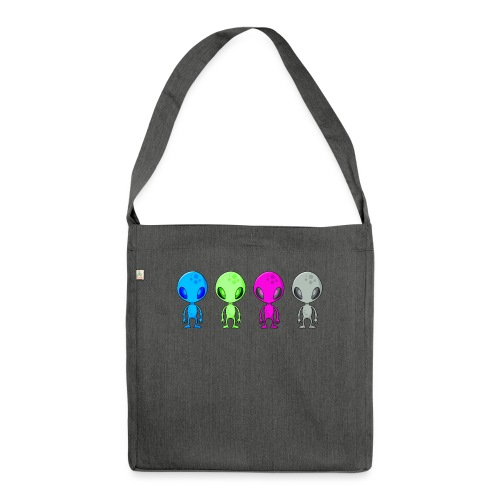 Multicolored Aliens - Shoulder Bag made from recycled material