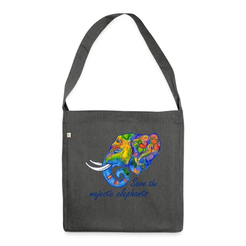 Save the majestic elephants - Schultertasche aus Recycling-Material