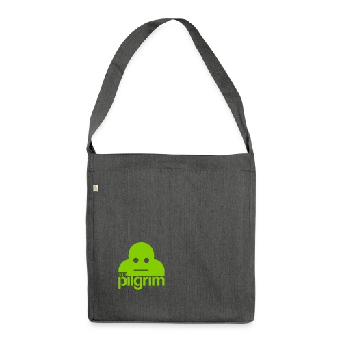 Mr Pilgrim Logo (Black) - Shoulder Bag made from recycled material