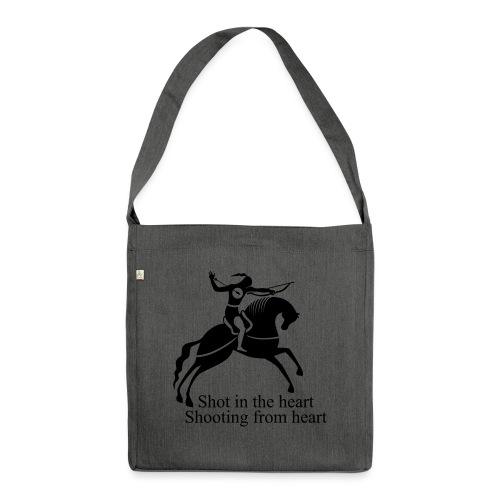 Shot in the Heart - Shoulder Bag made from recycled material