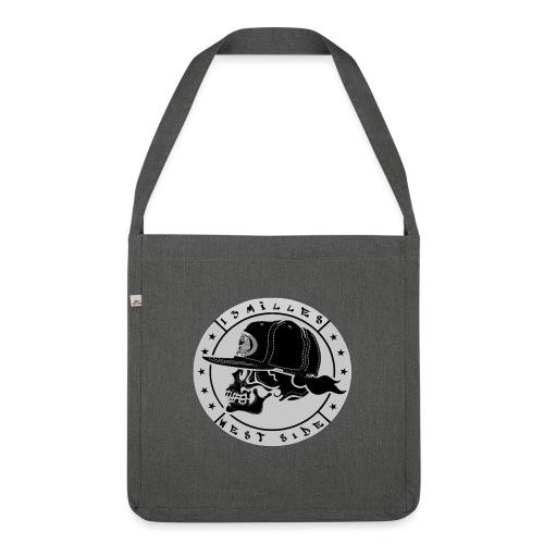 skull 13 milles noir et gris super design - Sac bandoulière 100 % recyclé