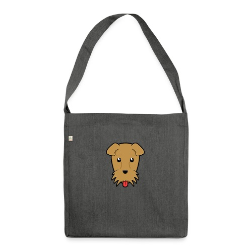 Shari the Airedale Terrier - Shoulder Bag made from recycled material