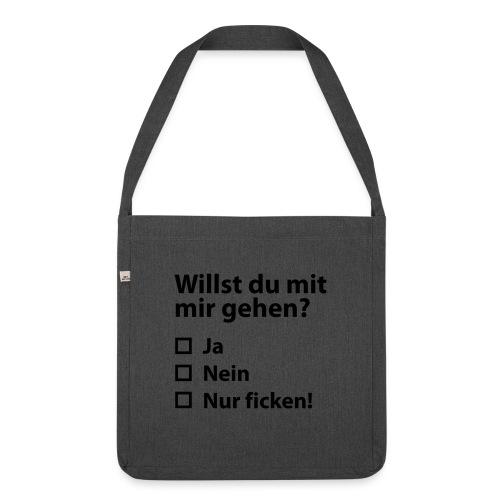 Willst du mit mir gehn? - Schultertasche aus Recycling-Material