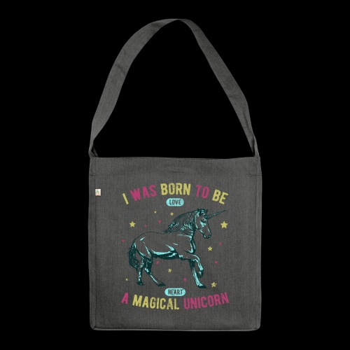 Magical Unicorn - Schultertasche aus Recycling-Material