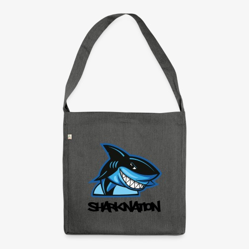 SHARKNATION / Black Letters - Schultertasche aus Recycling-Material