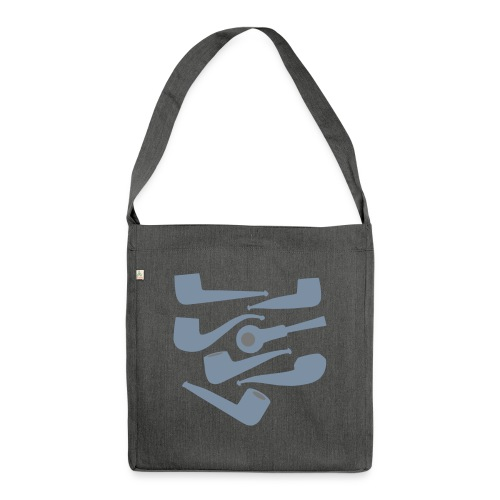 Italian Pipes - Shoulder Bag made from recycled material