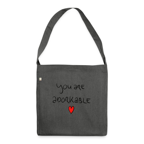 adorkable - Shoulder Bag made from recycled material