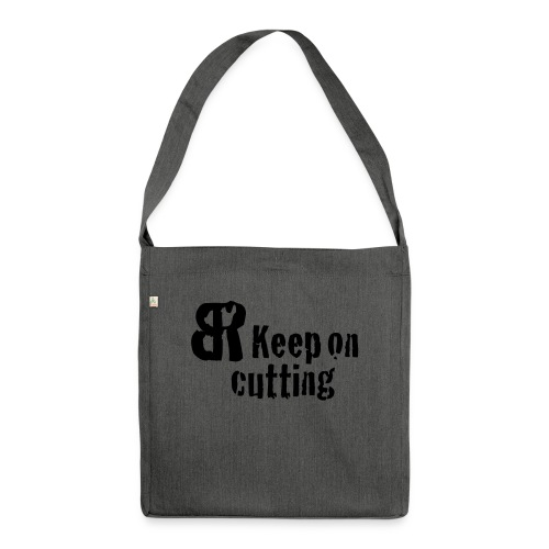 keep on cutting 1 - Schultertasche aus Recycling-Material