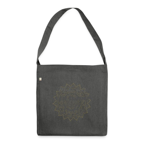 Make your soul happy today - grey mandala - Schultertasche aus Recycling-Material