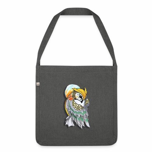 Cosmic owl - Bandolera de material reciclado