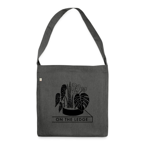 On The Ledge black and white logo - Shoulder Bag made from recycled material
