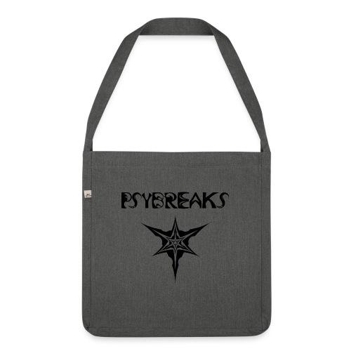Psybreaks visuel 1 - text - black color - Sac bandoulière 100 % recyclé
