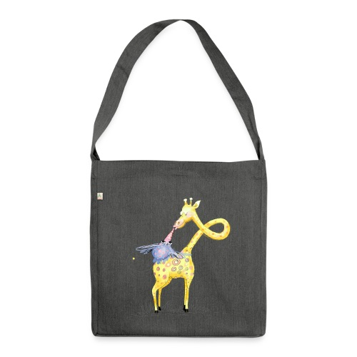 Hab dich lieb! - Schultertasche aus Recycling-Material