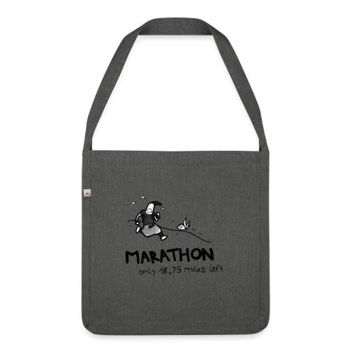 marathon-png - Torba na ramię z materiału recyklingowego