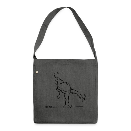 Lean Back Doodle - Shoulder Bag made from recycled material
