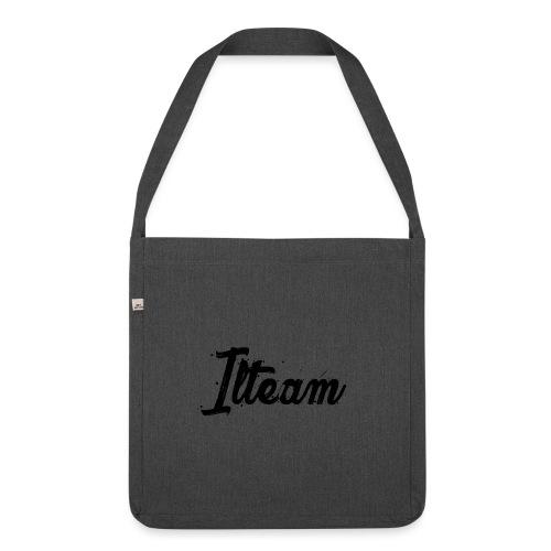 Ilteam Black and White - Sac bandoulière 100 % recyclé