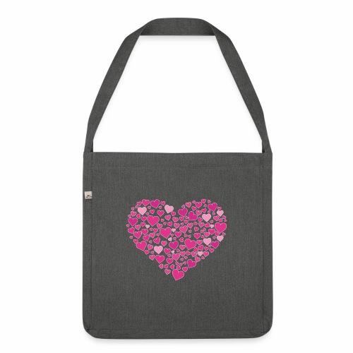 Herz aus Herzal - Schultertasche aus Recycling-Material