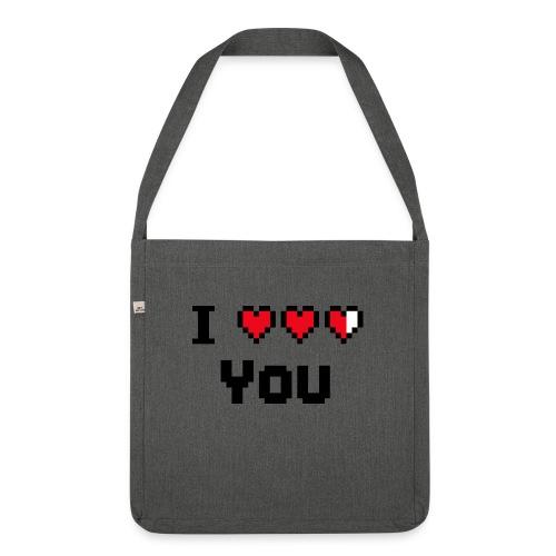 I pixelhearts you - Schoudertas van gerecycled materiaal