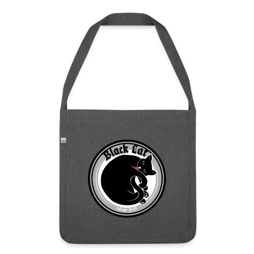 Black Cat - Schultertasche aus Recycling-Material