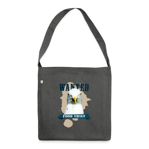 WANTED - FOOD THIEF - Schultertasche aus Recycling-Material