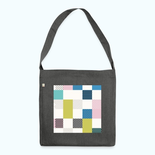 Abstract art squares - Shoulder Bag made from recycled material