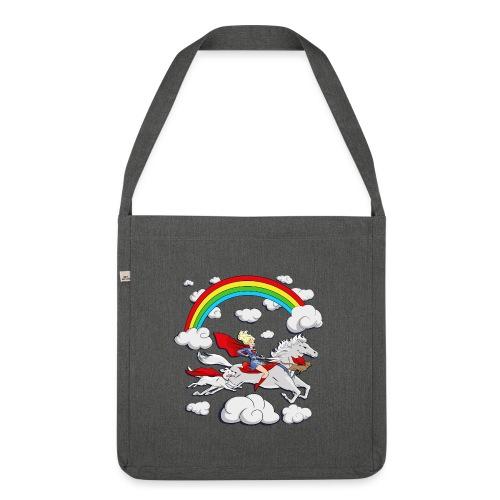 Regenbogen Design für Tasche - Schultertasche aus Recycling-Material