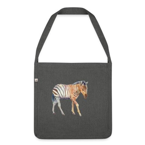 Zebra grants - Skuldertaske af recycling-material