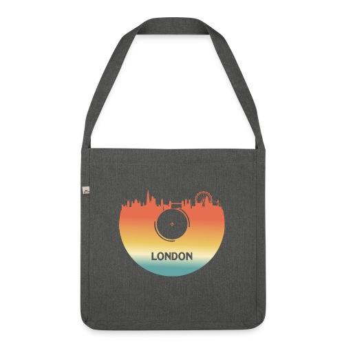 London Skyline Vinyl Schallplatte London Souvenir - Schultertasche aus Recycling-Material